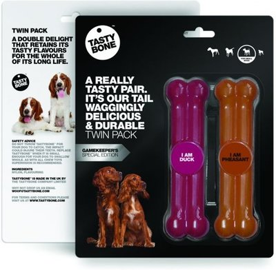 Tasty Bone Twin Pack Toydogs Eend & Fazant