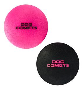 Dog Comets Ball Stardust - Zwart/roze